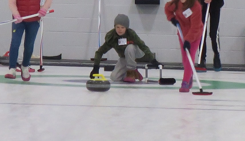 Thomas slides on curling ice