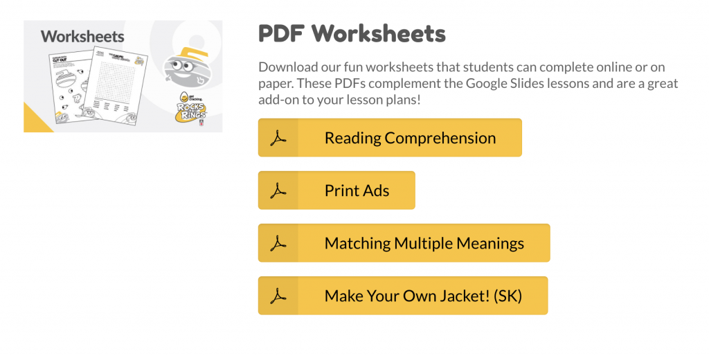 Free Classroom Resources PDF Worksheets